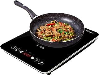 Table de cuisson à induction portable, 2000 W, plaque de cuisson électrique à plaque de cristal noir avec verrouillage pou...