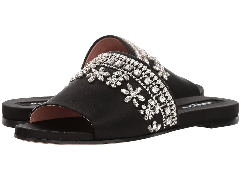 Rochas Fabri Flat Sandal w/ Flowers (Black) Women