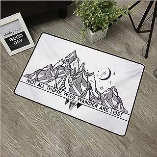 Adventure,Carpet Flooring Geometrical Abstract Mountain Landscape Typography Native American Motifs W 16