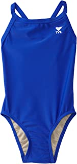 TYR Sport Girls' Solid Diamondback Swim Suit