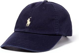 قبعة Polo Ralph Lauren للرجال/النساء بشعار الحصان قابل للتعديل، أزرق داكن (0546) / أصفر/ أزرق