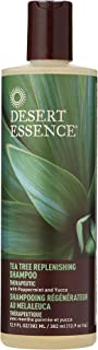 Desert Essence Tea Tree Replenishing Shampoo and Conditioner Bundle - 12.7 Fl Ounce - Therapeutic - Peppermint & Yucca - A...