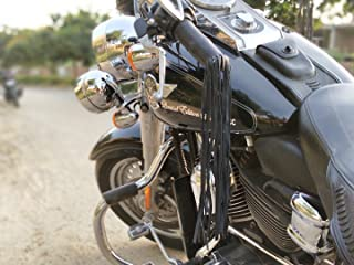 Leather Motorcycle Tassels Frills Black for Harley Davidson, Indian Motorcycles
