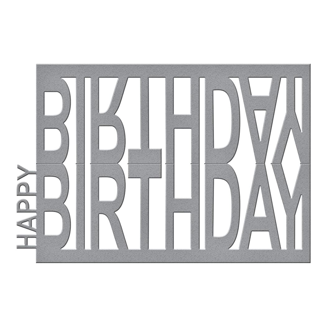 Spellbinders Happy Birthday Easel Etched/Wafer Thin Dies