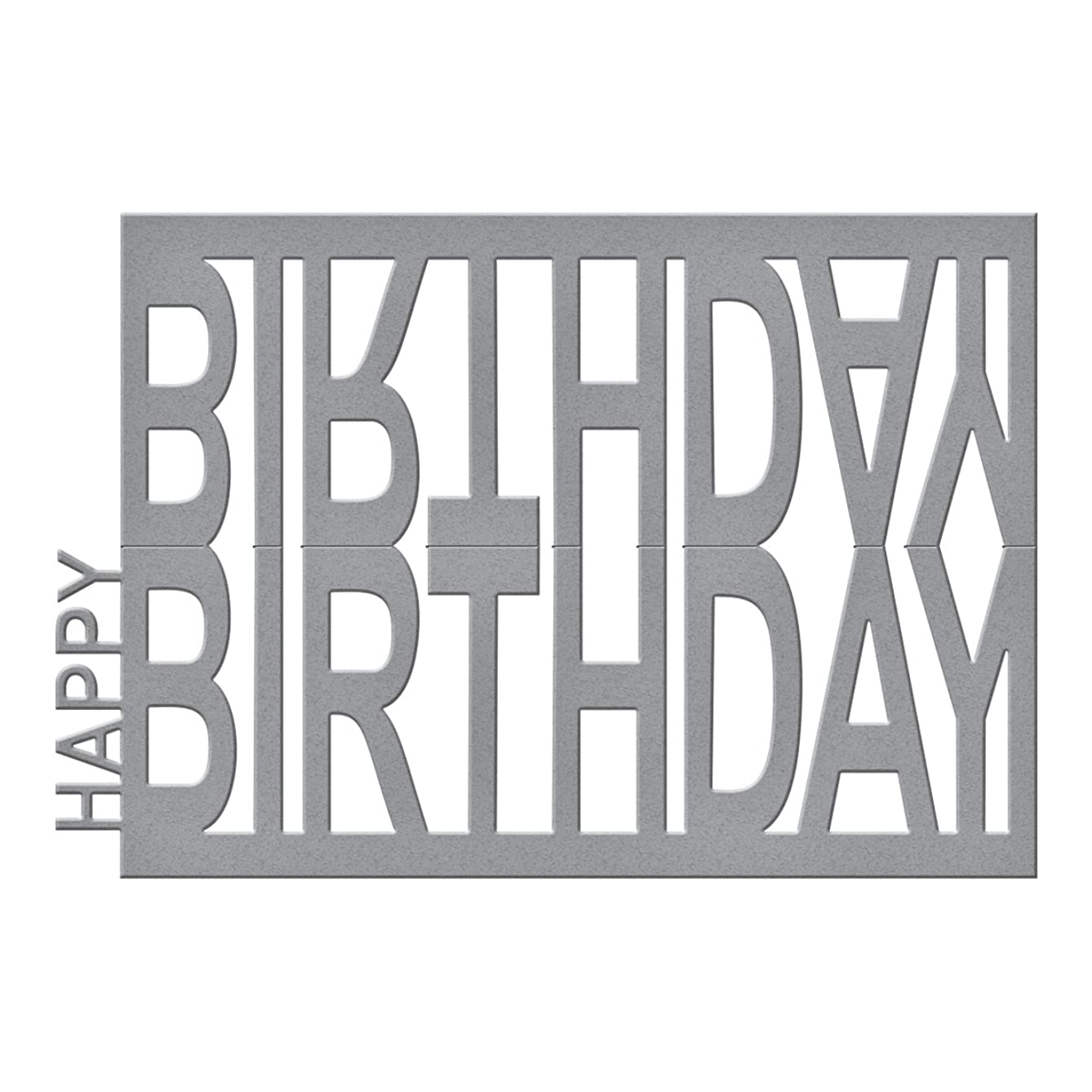Spellbinders Happy Birthday Easel Etched/Wafer Thin Dies