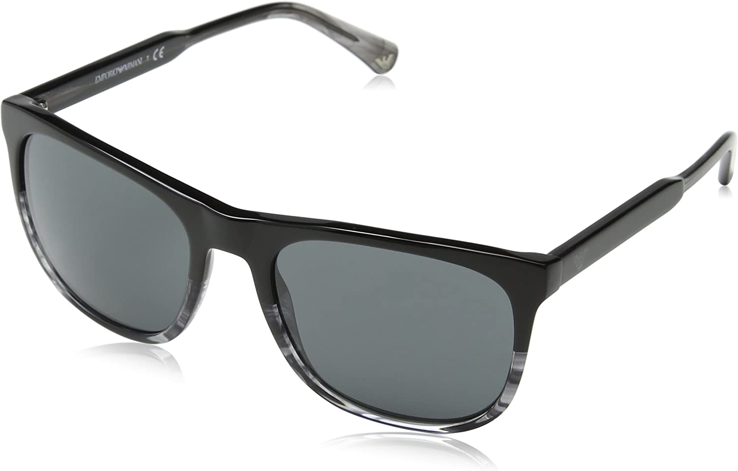 Emporio Armani EA4099 556687 Black Grey EA4099 Rectangle Sunglasses Lens Catego