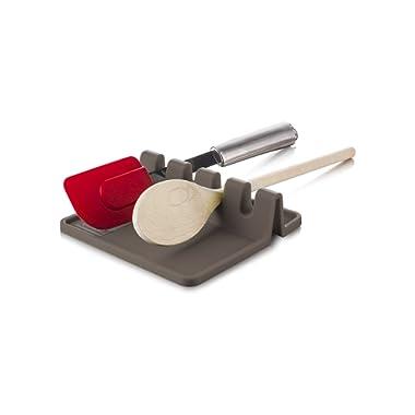 Tomorrow's Kitchen Silicone Utensil Rest, Grey