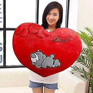 MSFI Love Heart Shape Soft Push Elephant Cushion Pillow (Multicolor, 32 x 32 x 10 cm)