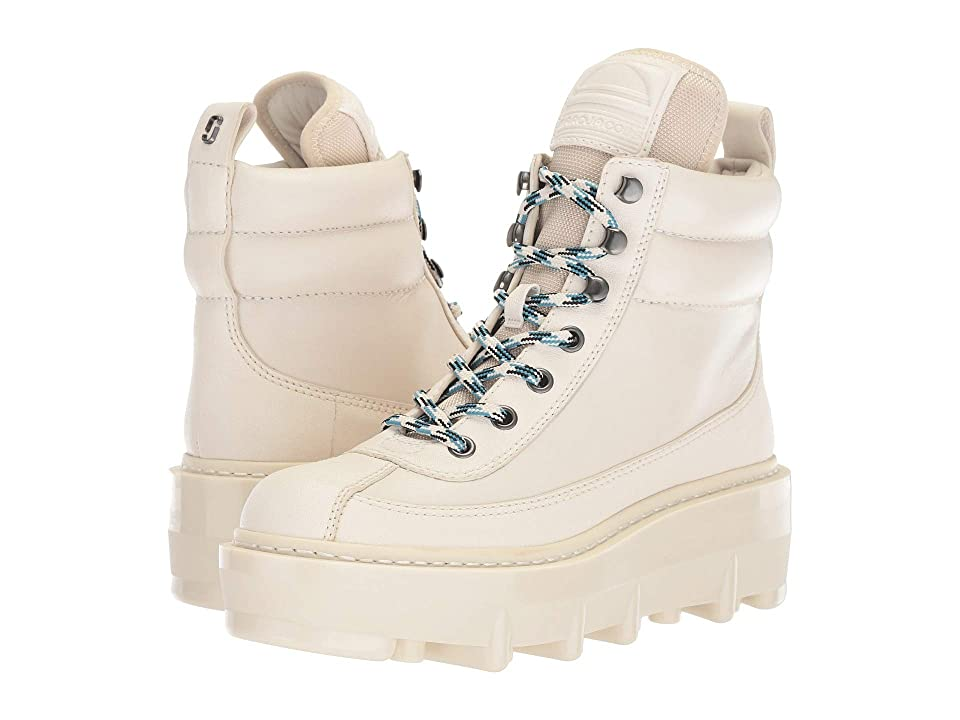 Marc Jacobs Shay Wedge Hiking Boot (White) Women