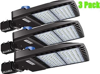 LEDMO 200W LED Parking Lot Lights 5000K 26000lm DLC&UL Listed Pack of 3