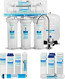 Geekpure 5-Stage Reverse Osmosis Drinking Water Filter System with Extra 7 Filters-75GP