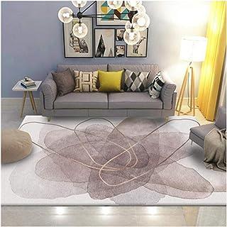 Tapis De Zone De Design Moderne, Antidérapant Lavable à La Machine pour La Chambre à Coucher Chambre à Coucher Salon Cuisi...