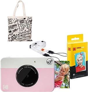 Kodak PRINTOMATIC Cámara de impresión instantánea (Rosado) Kit de Inicio con Bolsa de Mano