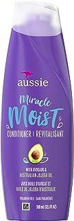 Aussie 干发,无防腐剂奇迹保湿护发素,含鳄梨和荷荷巴,12.1 液体盎司,6 支装