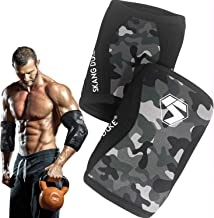Best Weightlifting Knee Sleeves /Elbow Sleeves 7MM Neoprene Compression Knee Support For ProfessionalWeightlifting   Cross Training   Strength Improvement (1 pair) (XXL, Elbow Sleeves) Review