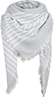 Plaid Blanket Thick Winter Scarf Tartan Chunky Wrap Oversized Shawl Cape