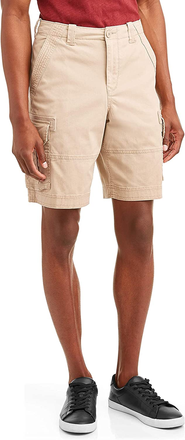 Stone Wash Above The Knee Stretch Cargo Shorts