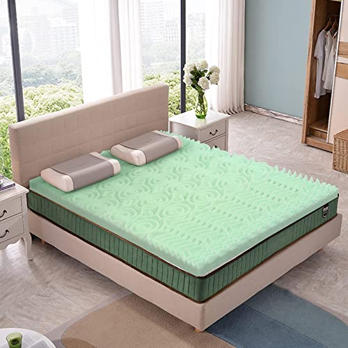 wholesale Giantex 3 Inch Mattress Topper, Mattress Pad online sale for All-Night Comfy, 5-Zone Bed Topper, Pressure Relief Mattress, Dorm Foam discount Topper (Queen) outlet online sale