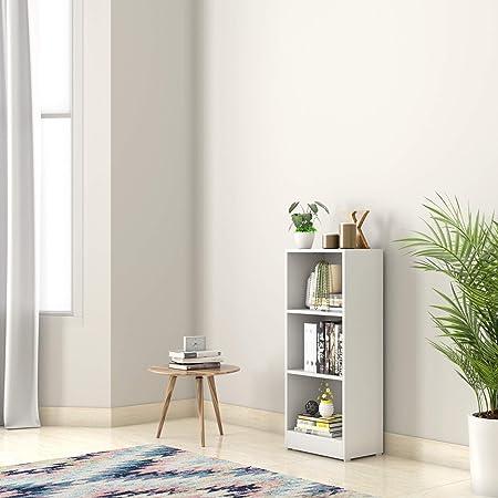 Amazon Brand - Solimo Anubia Engineered Wood Bookcase (White)