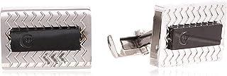 Diamond Moon Stainless Steel Cufflinks for Men, Stainless Steel - 1800541240428