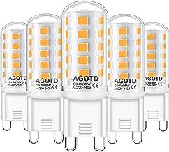 AGOTD G9 Ledlampen dimbaar warm wit 2700K Led dimbare ledlampen 4W vervanging voor 40W halogeenlampen, geen flikkering 420...