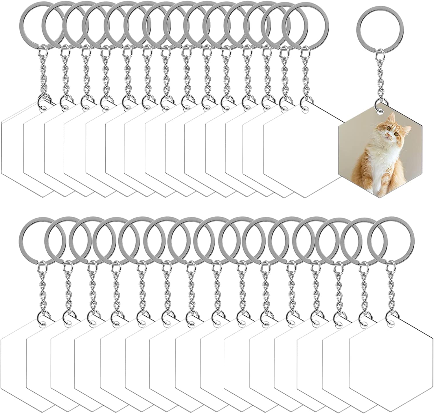 LANBEIDE Acrylic Keychain Blanks Atlanta Mall 60 Pcs for Keychains Clear Vin Sales of SALE items from new works