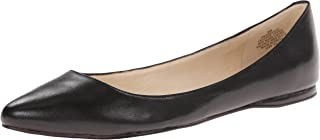 black leather flats pointed toe