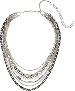 Multi Layer Silver Short Necklace