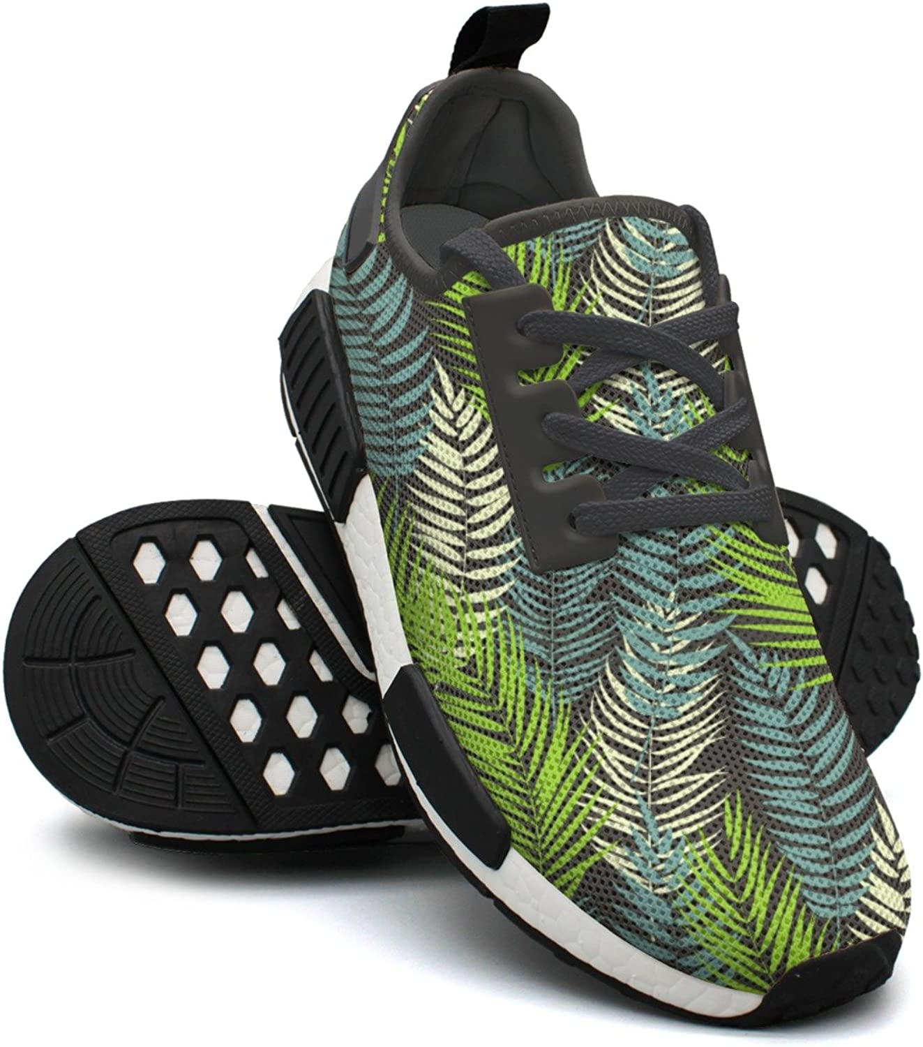 Beautifil Palm Tree Leaf Silhouette Ladies Running shoes Nmd Sport Tennis shoes