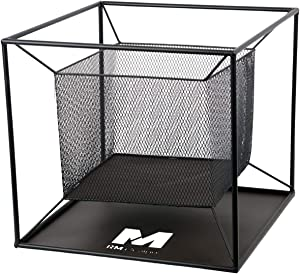 RM Design Brasero en métal pour terrasse/terrasse Noir 44 cm