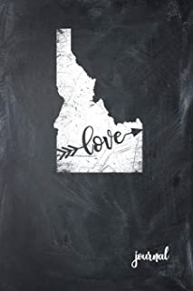 Love Journal: State of Idaho Gypsy Arrow Love Blank Diary 120 Paged College Lined 6x9 RV Travel Journal
