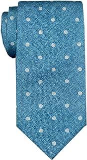 Remo Sartori - Cravatta Seta Stampata Blu Jeans Pois, Made in Italy