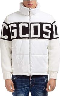 GCDS Band Logo Giubbotto Uomo White