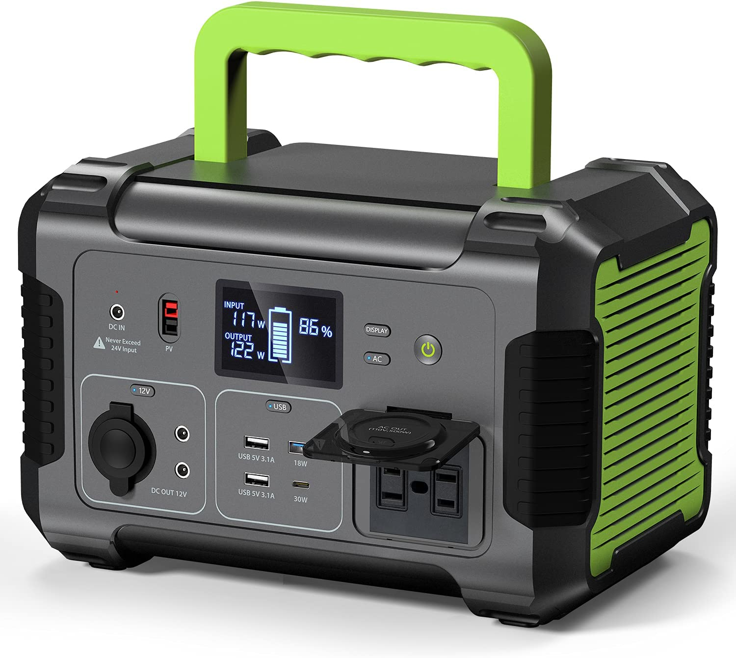 PAXCESS Portable Power Max 78% OFF Station 500W 519Wh 140400mAh Solar Gener New Free Shipping
