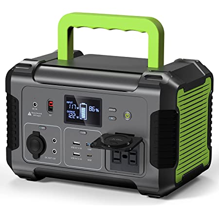 PAXCESS Portable Power Station 500W, 519Wh/140400mAh Solar Generator with MPPT, 12V Regulated Power Supply, 110V Pure Sine Wave AC Outlet, USB-C PD Input/Output, QC 3.0, CPAP Backup Lithium Battery
