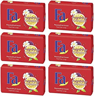 Fa Inspiring Passionfruit Scent Fresh Bar Soap 175g - Pack of 6