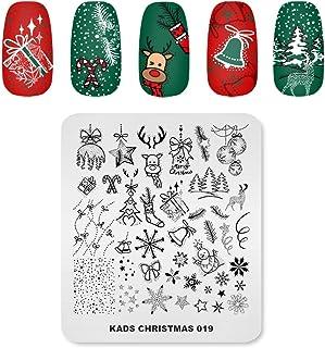 KADS Nail Art Stempelen Plaat Kerst Eland Sneeuwpop Bell Ballon Kerstboom Nail Afbeelding Plaat Decoratie Ontwerp Tool (CH...