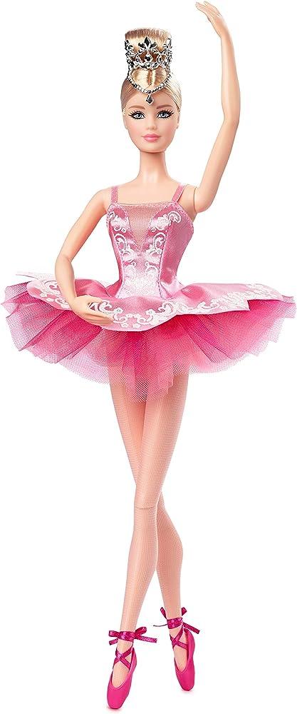 Barbie, ballet wishes bambola da collezione dedicata alle future ballerine con tutù e accessori GHT41