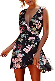 ビーチドレス レディース レディース ヴィンテージ 花柄 夏 ビーチ パーティー ボヘミアン マキシ ドレス 体型カバー 夏 森ガール ゆったり 大きいサイズ 無地 カジュアル (XL, ブラック)