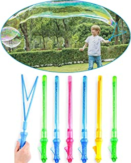 """Leeche Create Giant Bubbles Fun Easy to Use,6 PCS 17"""" Jumbo Bubble Wands,Non-Toxic Smelless Outdoor Toys for Kids Child Birthday Party Favor Wedding Summer Bathroom Bath"""