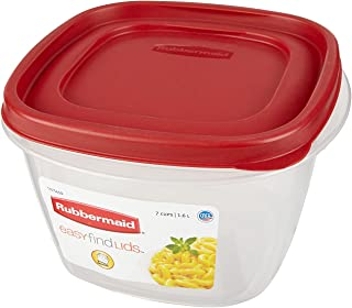 Rubbermaid Easy Find Lids Square 7-Cup Food Storage Container (Pack of 3)