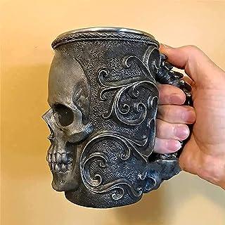 AHURGND Kreativitet kopp, macabre kaffe muggar/kopp, zombie/skelett kranium skalle stil öl kopp, skräck 3d zombie huvud va...