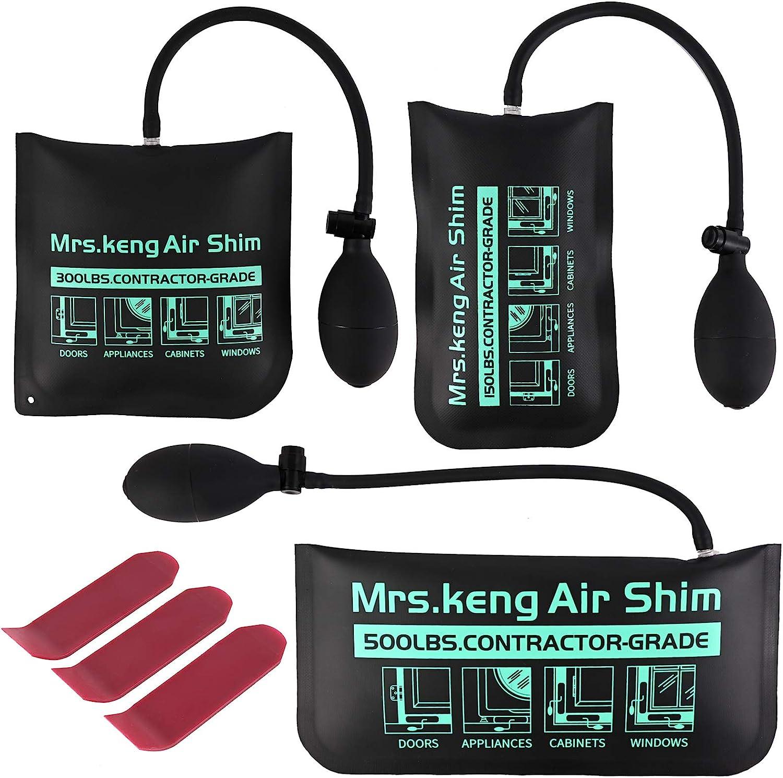 UPGRADE Air Wedge Bag kit,3Pack Inflatable Air Wedge Pump Bag To