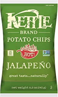 Kettle Brand Potato Chips, Jalapeno, 8.5 Ounce Bag