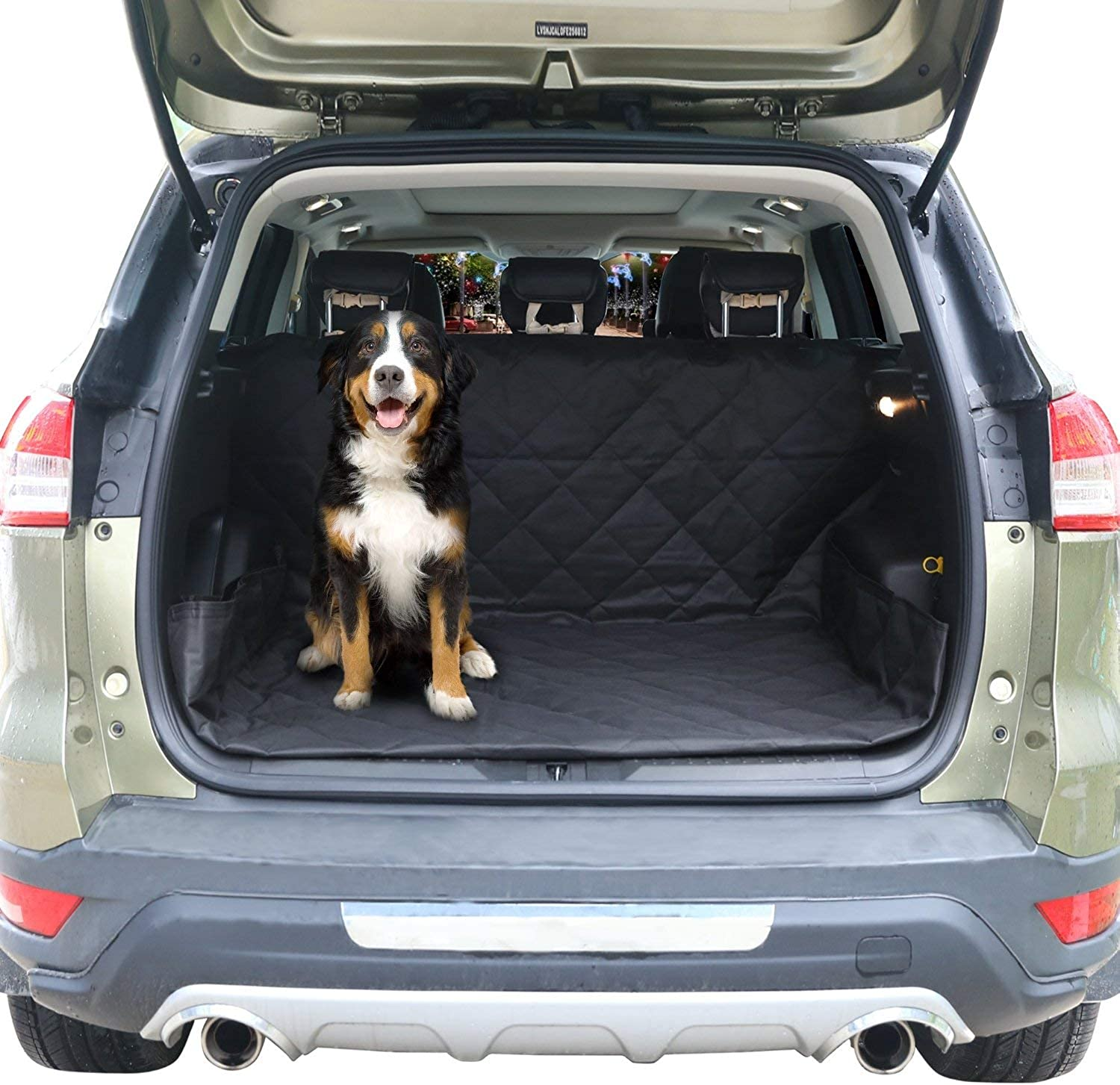 PAW WOW Pet Cargo Liner for SUVs, Vans, Jeep, and Trucks I Heavy Duty Waterproof Material, Non Slip Base I Predect Trunk Cargo from Scratches and Dirts