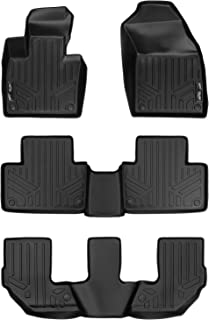 MAXLINER Custom Fit Floor Mats 3 Row Liner Set Black for 2016-2019 Volvo XC90 - No Plug-in Hybrid Models
