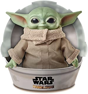 """Star Wars Grogu Plush Toy, 11-in """"The Child"""" from The Mandalorian, for Movie Fans, Ages 3 Years and Older GWD85"""