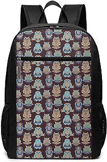 Mochila Escolares Búho 455, Mochila Tipo Casual para Niñas Niños Hombre Mujer Mochila para Ordenador Portátil Viaje