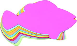 Hygloss Products 68011 Fish Shaped Cut-Outs 40 Pcs 7.5-Inch, Assorted Colors