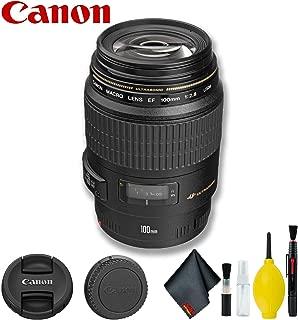 Canon EF 100mm f/2.8 Macro USM Lens (International Model) Basic Bundle